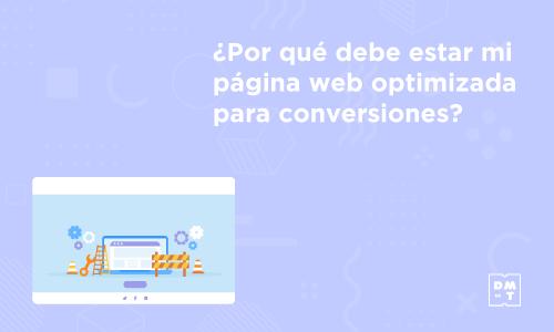 página web optimizada para conversiones