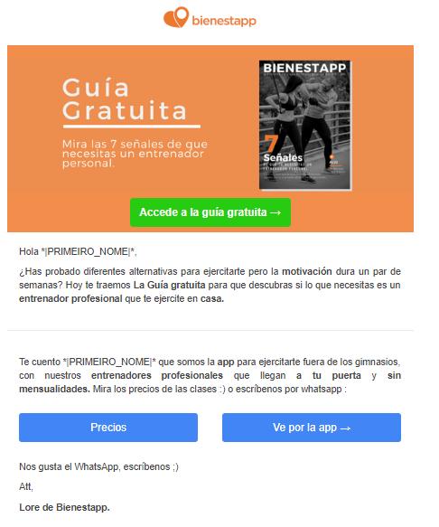 email ejemplo de inbound marketing